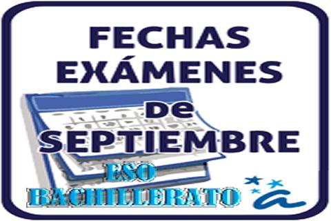 Resultado de imagen de icono exámenes de septiembre 2017